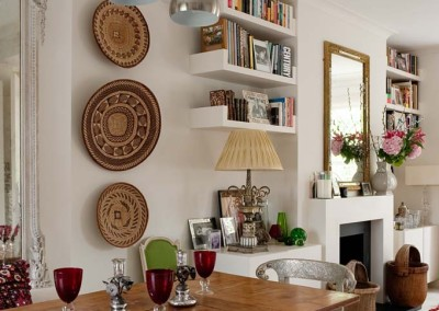 The flat of designer Sarah Vanrenen in London